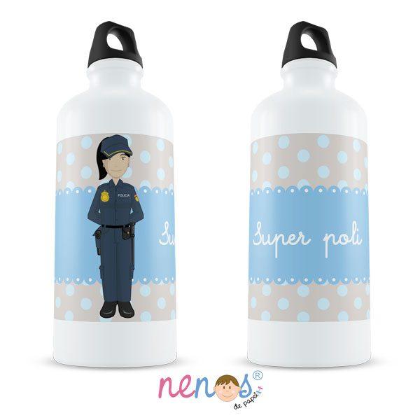 Botella Termo personalizada policia mujer